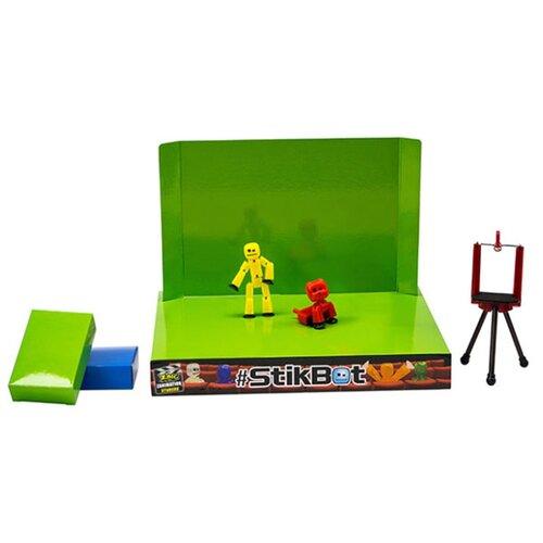 Игровой набор Zing Stikbot Анимационная студия со сценой и питомцем TST617A zing игрушка zing stikbot мегадино