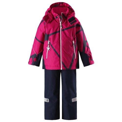 Купить Комплект с полукомбинезоном Reima размер 92, розовый/синий, Комплекты верхней одежды