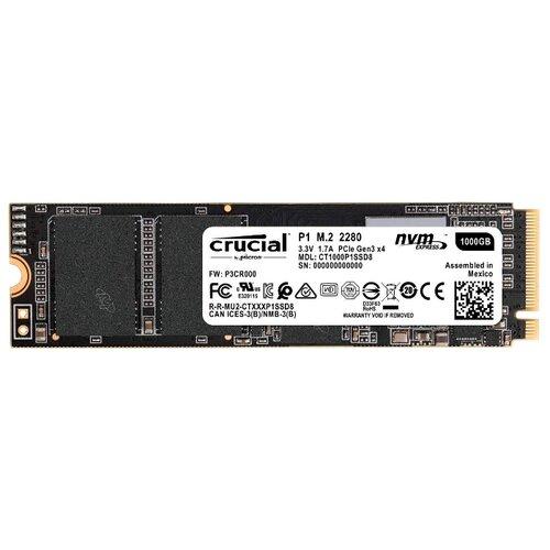 Твердотельный накопитель Crucial CT1000P1SSD8Внутренние твердотельные накопители (SSD)<br>