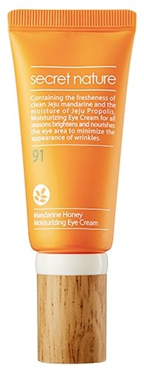 Secret Nature Крем для кожи вокруг глаз с мандарином и прополисом придающий сияние