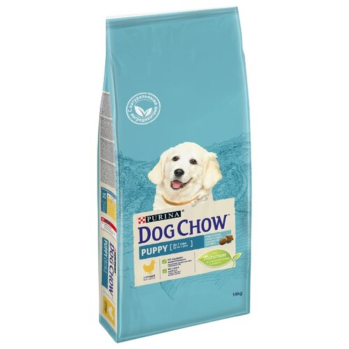 Сухой корм для щенков DOG CHOW курица 14 кг dog chow dry food for puppies up to 1 year old with chicken 14 kg