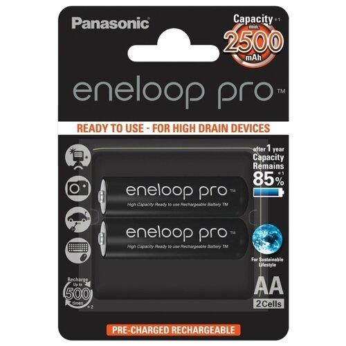 Фото - Аккумулятор Ni-Mh 2500 мА·ч Panasonic eneloop pro AA 2 шт блистер аккумулятор