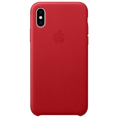 Купить Чехол Apple кожаный для iPhone XS (PRODUCT)RED