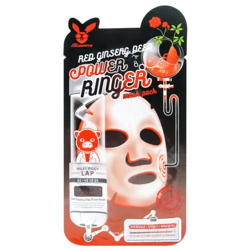 Elizavecca регенерирующая тканевая маска с экстрактом красного женьшеня Red Ginseng Deep Power Ringer Mask Pack, 23 мл недорого