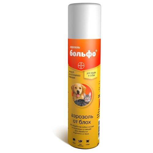 Больфо (Bayer) спрей от блох и клещей инсектоакарицидный для кошек и собак 250 мл ошейник для кошек и собак мелких пород bayer больфо от блох клещей 35см