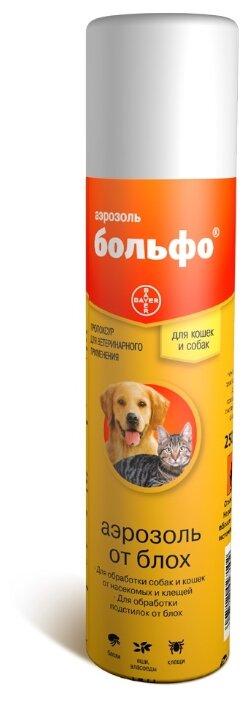 Больфо (Bayer) спрей от блох и клещей инсектоакарицидный для кошек и собак