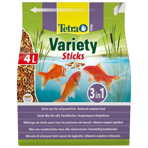 Сухой корм Tetra Pond Variety Sticks для рыб 4000 мл сухой корм tetra pond colour sticks для рыб 4000 мл