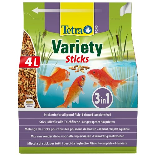 Сухой корм для рыб Tetra Pond Variety Sticks 4000 мл сухой корм для рыб tetra pond koi sticks 15000 мл