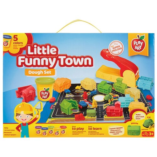 Купить Масса для лепки Play Art Маленький весёлый городок (PA-3910), Пластилин и масса для лепки