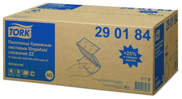 290184 Tork Advanced бумажные полотенца Singlefold сложение ZZ, 200 листов