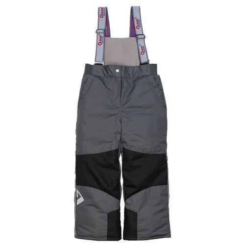 Купить Полукомбинезон Oldos Эмма 1A7PT01 размер 98, темно-серый, Полукомбинезоны и брюки