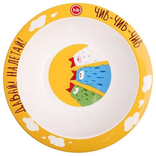 Купить Тарелка Happy Baby глубокая (15016) birds, Посуда