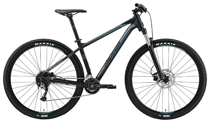 Велосипед Merida Big.Nine 200 matt black/silver/blue (2019) (XL - ваш рост 185-210 см)
