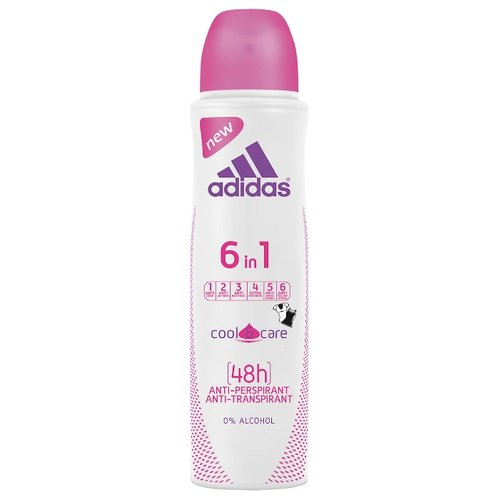 Adidas дезодорант-антиперспирант, спрей, Cool&Care 6 in 1, 150 мл adidas дезодорант антиперспирант спрей cool