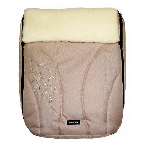 Купить Конверт-мешок Womar Snowflake в коляску 95 см 1/2 бежевый, Конверты и спальные мешки