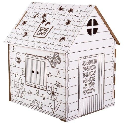 Фото - BibaLina Раскраска картонный домик Английский алфавит BBL003-001 mochtoys раскраска картонный домик 10721