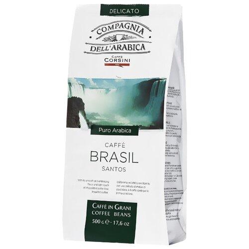 цена Кофе в зернах Compagnia Dell` Arabica Brasil Santos, арабика, 500 г онлайн в 2017 году