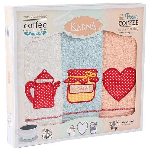 KARNA набор полотенец Tea love кухонное