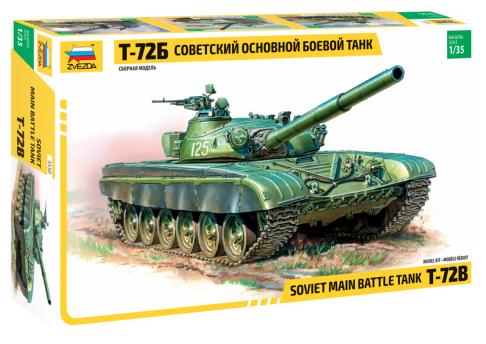 Сборная модель ZVEZDA Советский основной боевой танк Т-72Б (3550) 1:35