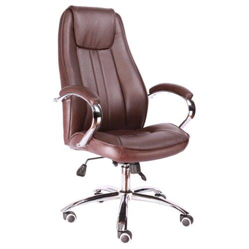 Фото - Компьютерное кресло Everprof Long TM для руководителя, обивка: искусственная кожа, цвет: коричневый компьютерное кресло everprof drift m для руководителя обивка натуральная кожа цвет коричневый