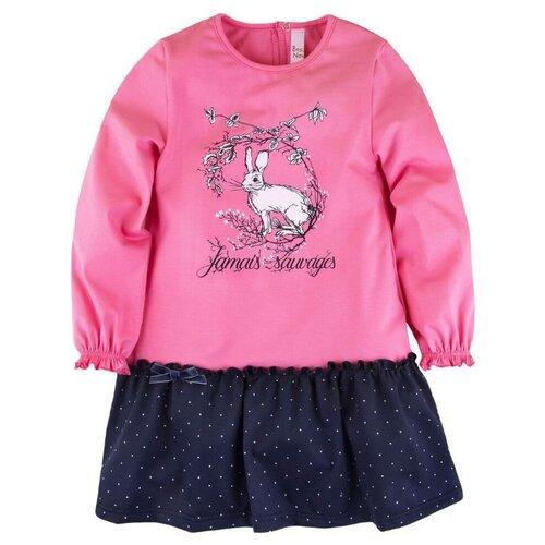 Платье Bossa Nova размер 122, розовый/синий (горошек)Платья и сарафаны<br>