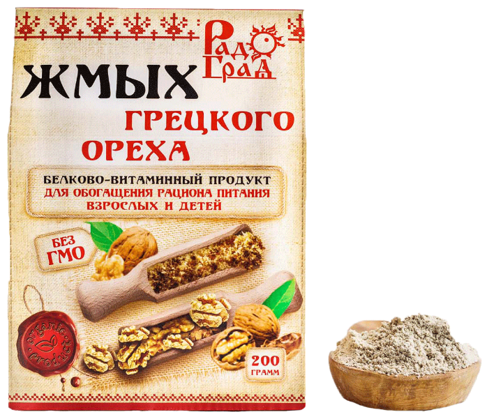 Жмых грецкого ореха 200 г (Радоград)