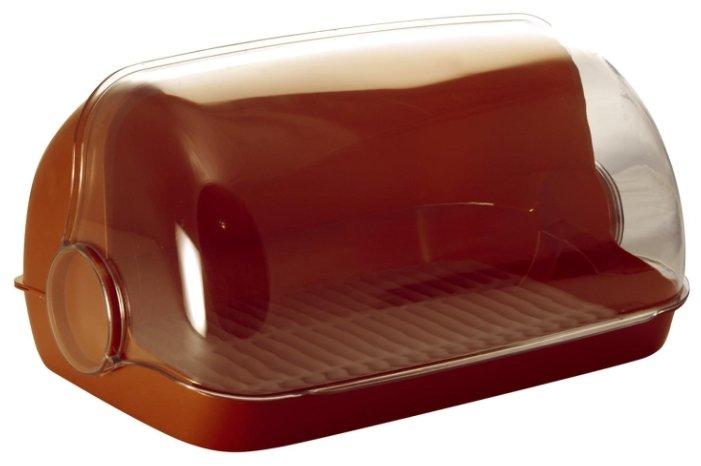 Хлебница Plastic Centre Пышка большая 41,5х26х18,5 см, ПЦ1673КЧ коричневая