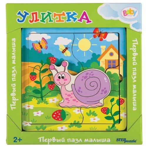 Фото - Рамка-вкладыш Step puzzle Baby Step Улитка (89077), 7 дет. рамка вкладыш step puzzle baby step мышонок 89069 7 дет