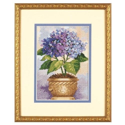 Купить Dimensions Набор для вышивания крестиком Гортензия в цвету 13 х 18 см (06959), Наборы для вышивания