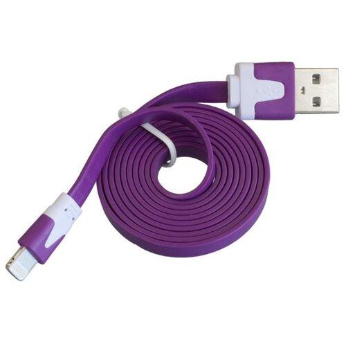 Кабель Navitoch USB - Apple Lightning (SG205) 1 м фиолетовыйКомпьютерные кабели, разъемы, переходники<br>