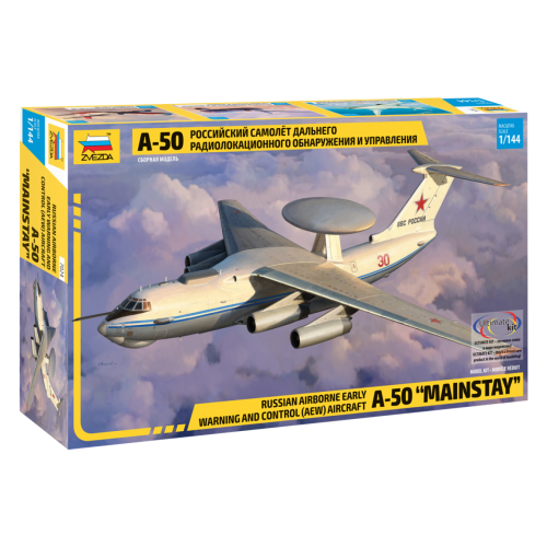 Купить Сборная модель ZVEZDA Российский самолет дальнего радиолокационного обнаружения и управления А-50 (7024) 1:144, Сборные модели