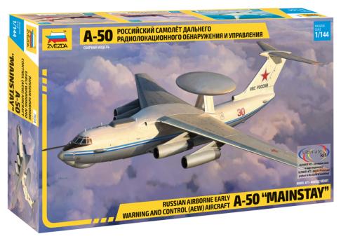 Сборная модель ZVEZDA Российский самолет дальнего радиолокационного обнаружения и управления А-50 (7024) 1:144