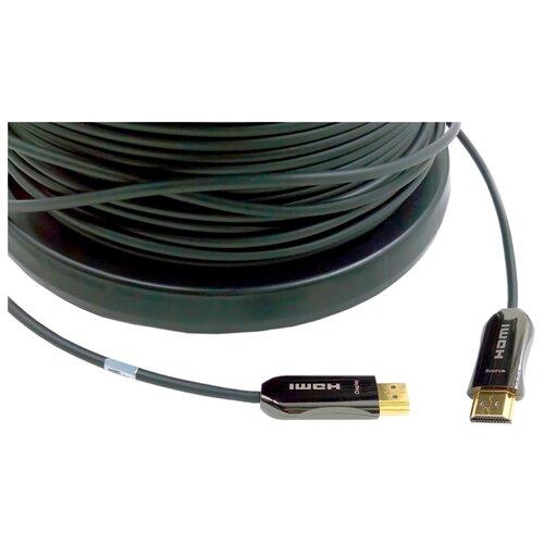 Кабель Eagle Cable Deluxe Optical Fiber HDMI - HDMI 8 м черный