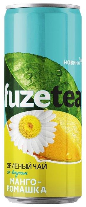Чай fuzetea зеленый со вкусом Манго-Ромашка, банка