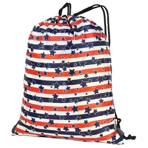 Nosimoe Рюкзак-мешок 3115 (звёзды полосы) синий/красный/белыйМешки для обуви и формы<br>