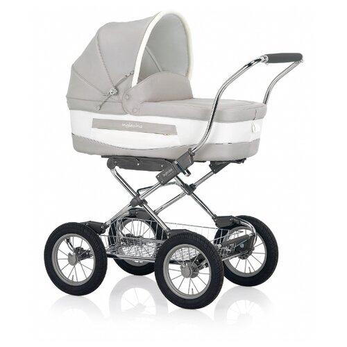 Купить Коляска для новорожденных Inglesina Vittoria (шасси Comfort Chrome) betulla chrome/blue, Коляски