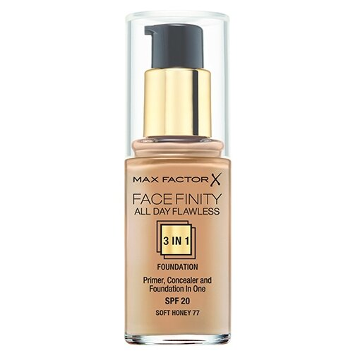 Max Factor Тональный крем Facefinity All Day Flawless 3-in-1, 30 мл, оттенок: 77 Soft HoneyТональные средства<br>
