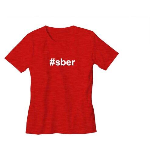 Футболка #sber размер 48, краснаяОдежда и аксессуары<br>