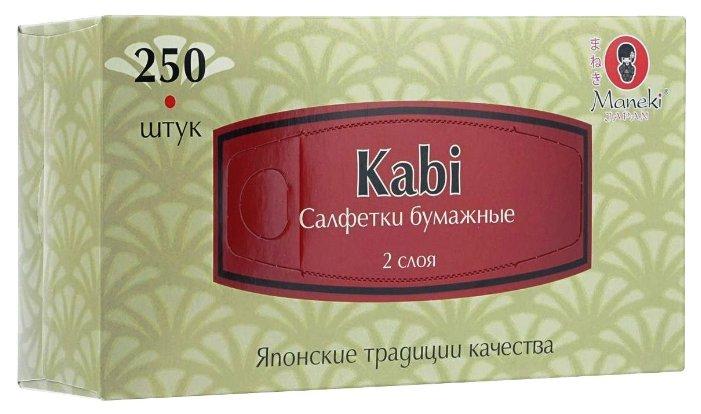 Maneki Салфетки бумажные серия Kabi 2 слоя белые 150 шт./упаковка