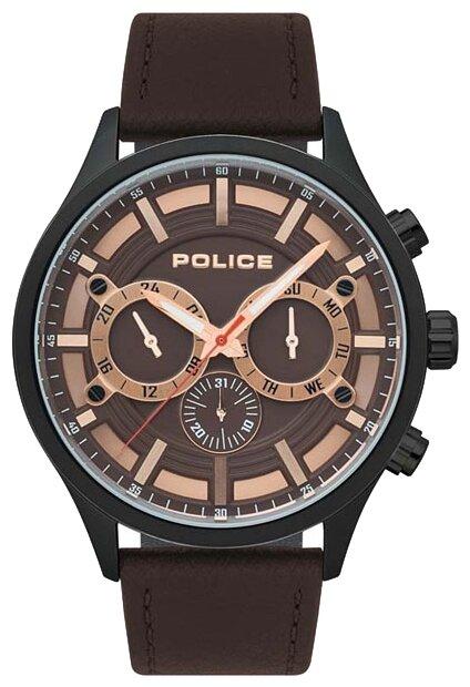 Секундная стрелка украшена логотипом бренда и контрастным итальянские часы police adder pl.