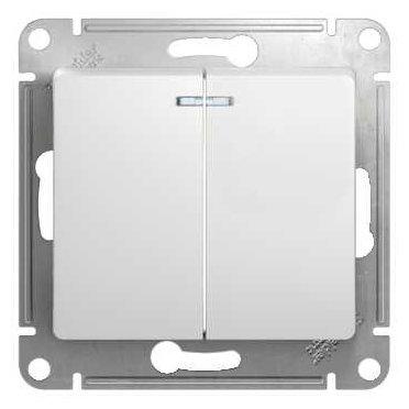 Выключатель 2х1-полюсный Schneider Electric GLOSSA GSL000153, 10А , белый
