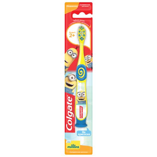 Купить Зубная щетка Colgate Миньоны 2+, желтый, Гигиена полости рта