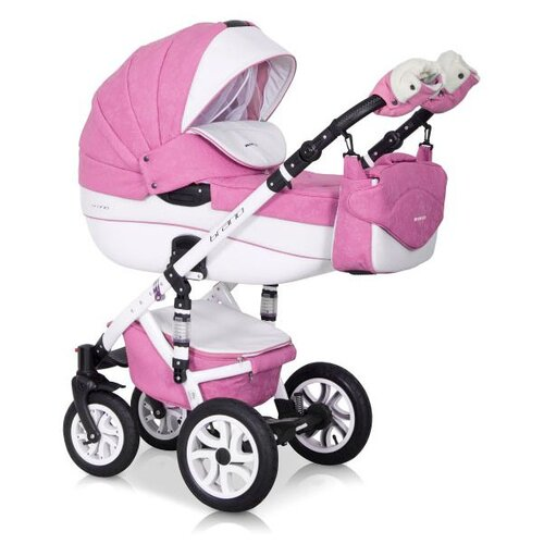 Универсальная коляска Riko Brano Ecco 3 в 1, 18 baby pink