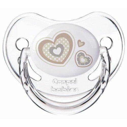 Купить Пустышка силиконовая ортодонтическая Canpol Babies Newborn Baby 6-18 м (1 шт) белый, Пустышки и аксессуары