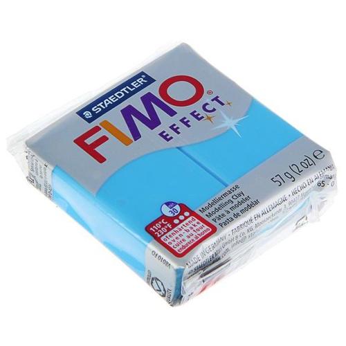 Купить Полимерная глина FIMO Effect запекаемая полупрозрачный синий (8020-374), 57 г, Глина
