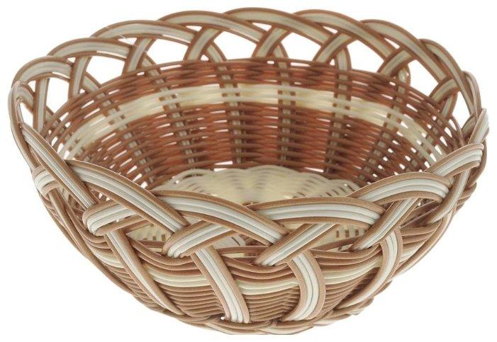 Корзинка для хлеба Oriental Way Мульти MJ-PP019BRBG бежевый/коричневый