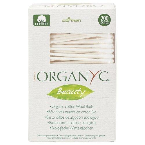 Ватные палочки Organyc Beauty из органического хлопка, 200 шт.