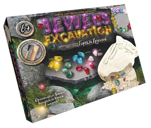 Набор для раскопок Danko Toys Jewerly Excavation Горный хрусталь