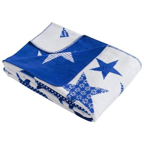 Плед KARNA STARS 130x170 см, голубой плед полутораспальный karna palma 160 220 см бежевый