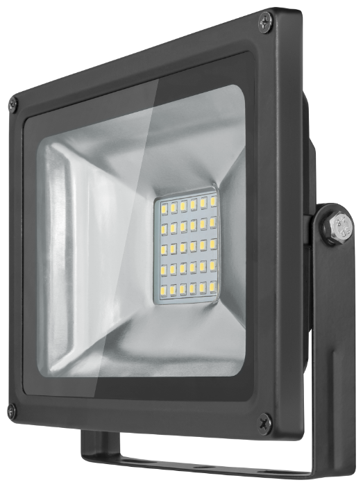 Cветодиодный LED прожектор Онлайт 30W (Вт) 6000K 2400lm IP66 225x185x50 176-264 OFL-30-6K-BL-IP65-LED 71658